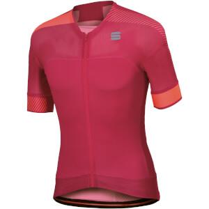 Sportful BodyFit Pro Evo Jersey - Raspberry Wine/Coral Fluo