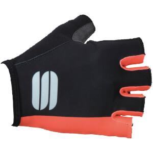 Sportful Women's Diva Gloves - Black/Coral Fluo