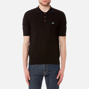 Vivienne Westwood MAN Men's Cotton Polo Shirt - Black