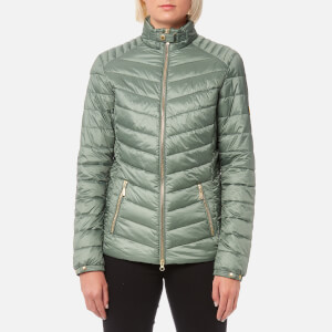 Barbour International Women's Triple Quilt Jacket - Light Khaki