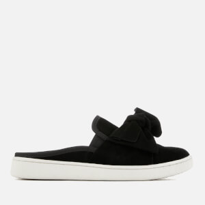 UGG Women's Luci Bow Suede Slip On Trainers - Black