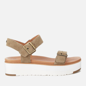 UGG Women's Angie Double Strap Flatform Sandals - Antelope
