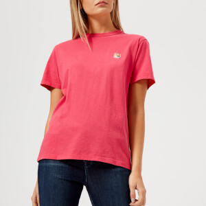 Maison Kitsuné Women's Fox Head Patch T-Shirt - Fuchsia