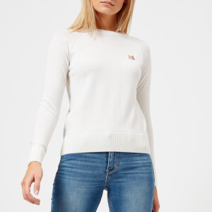 Maison Kitsuné Women's Fox Patch Merino Jumper - Ecru