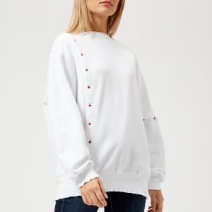 Maison Kitsuné Women's Asymmetric Sweatshirt - White
