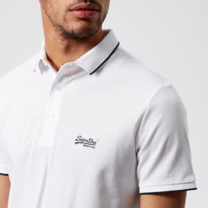 Superdry Men's Classic Lite Micro Pique Polo Shirt - Optic White