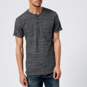 Superdry Men's Lite Short Sleeve Grandad T-Shirt - Linear Grey Grit