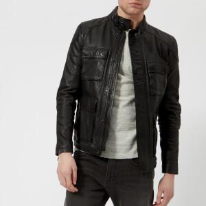 Superdry Men's Leather Rotor Jacket - Black