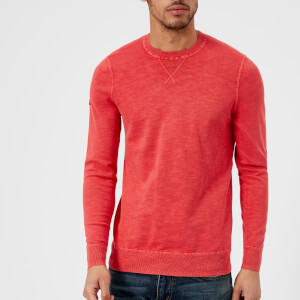 Superdry Men's Garment Dye L.A. Crew Top - Washed Pillar Red