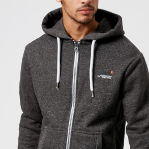 Superdry Men's Orange Label Cali Zip Hoody - Bolt Charcoal Grit