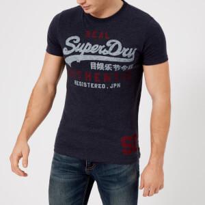 Superdry Men's Vintage Authentic Duo T-Shirt - Aurora Navy
