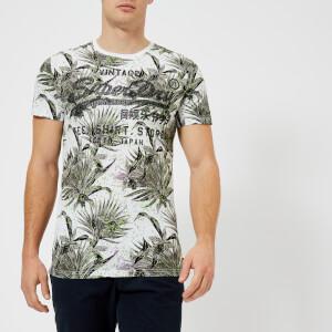 Superdry Men's Shirt Shop Aop T-Shirt - Optic