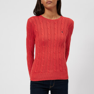 Polo Ralph Lauren Women's Julianna Crew Neck Jumper - Red