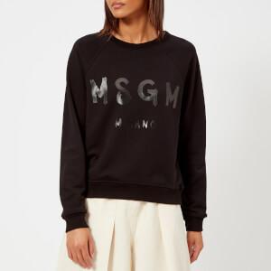 MSGM Women's Graffiti Logo Sweatshirt - Black