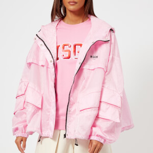 MSGM Women's Waterproof Coat with Hood - Pink