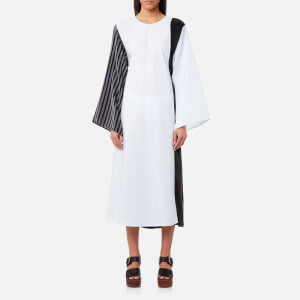 MM6 Maison Margiela Women's Cotton Stripe Shirt Dress - White Stripe/Black Stripe/Black
