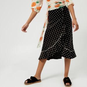 Ganni Women's Dufort Silk Skirt - Black