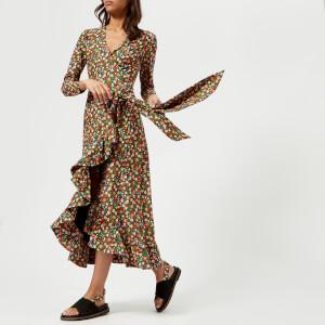 Ganni Women's Alameda Wrap Dress - Multi