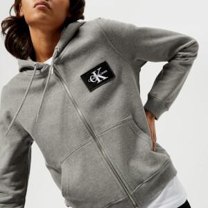 Calvin Klein Women's CK True Icon Zip Hoody - Light Grey Heather