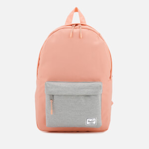 Herschel Supply Co. Women's Classic Mid-Volume Backpack - Peach/Light Grey Crosshatch