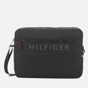 Tommy Hilfiger Men's Light Nylon Messenger Bag - Black