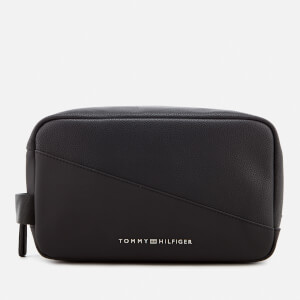 Tommy Hilfiger Men's TH Diagonal Wash Bag - Black