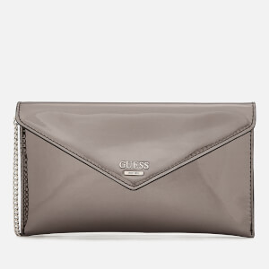 Guess Women's Spring Fling Cross Body Clutch Bag - Pewter