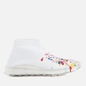 Maison Margiela Men's Painter Treatment Sock Sneakers - White/Painter Mix/White Sole