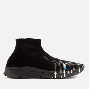 Maison Margiela Men's Painter Treatment Sock Sneakers - Black/Painter Mix/Black Sole
