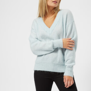Gestuz Women's Peoni V-Neck Jumper - Forget Me Not
