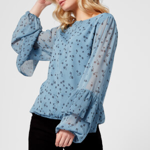 Gestuz Women's Jeanett Blouse - Blue Flower