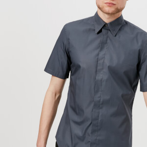Maison Margiela Men's Fine Poplin Short Sleeve Shirt - Grey
