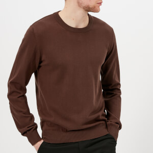 Maison Margiela Men's Elbow Patch Crew Neck Jumper - Brown