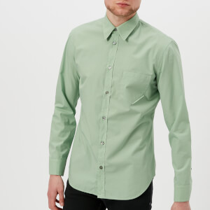 Maison Margiela Men's Cotton Poplin Ready to Dye Slim Fit Shirt - Soap