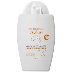 Avène Very High Protection Mineral Fluid SPF50+ Sun Cream for Intolerant Skin 40ml
