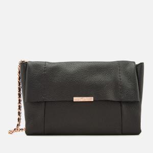 Ted Baker Women's Parson Unlined Soft Leather Cross Body Bag - Black