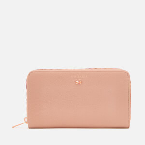 Ted Baker Women's Pasy Textured Leather Zip Matinee Purse - Mink