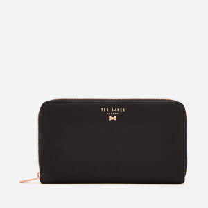Ted Baker Women's Pasy Textured Leather Zip Matinee Purse - Black