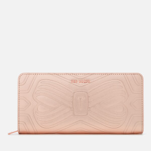 Ted Baker Women's Embossed Bow Zip Matinee Purse - Rose Gold