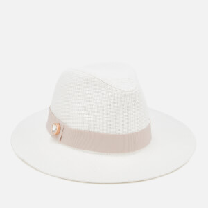 Ted Baker Women's Asimina Colour Block Fedora Hat - Ivory