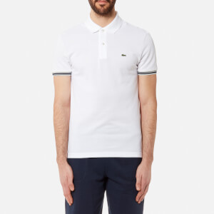 Lacoste Men's Sleeve Tip Polo Shirt - Blanc