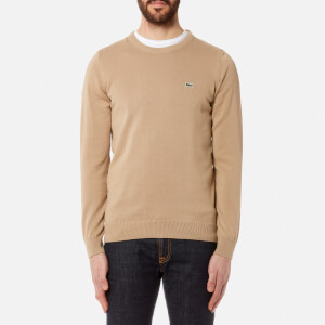 Lacoste Men's Basic Crew Knitted Jumper - Kraft Beige