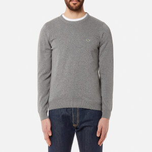 Lacoste Men's Basic Crew Knitted Jumper - Galaxite Chine
