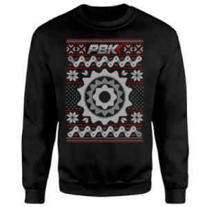 PBK Christmas Stitch Pattern Black Sweatshirt