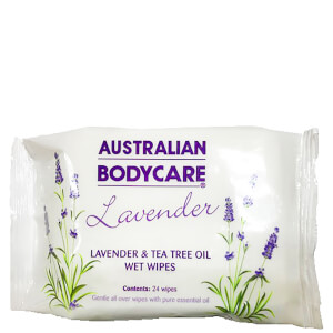 Australian Bodycare Lavender and Tea Tree Oil Wipes (24 Pack)