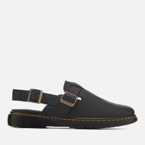 Dr. Martens Men's Jorge Rve Grizzly Leather Mules - Black