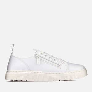Dr. Martens Men's Dante Zip Softy T Leather 6-Eye Shoes - White