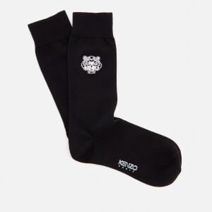 KENZO Men's Tiger Embroidered Socks - Black