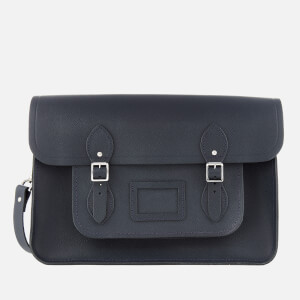 The Cambridge Satchel Company Women's 15 Inch Classic Satchel with Detachable Strap - Navy Saffiano