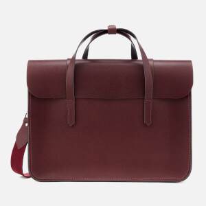 The Cambridge Satchel Company Women's Large Folio - Oxblood Saffiano